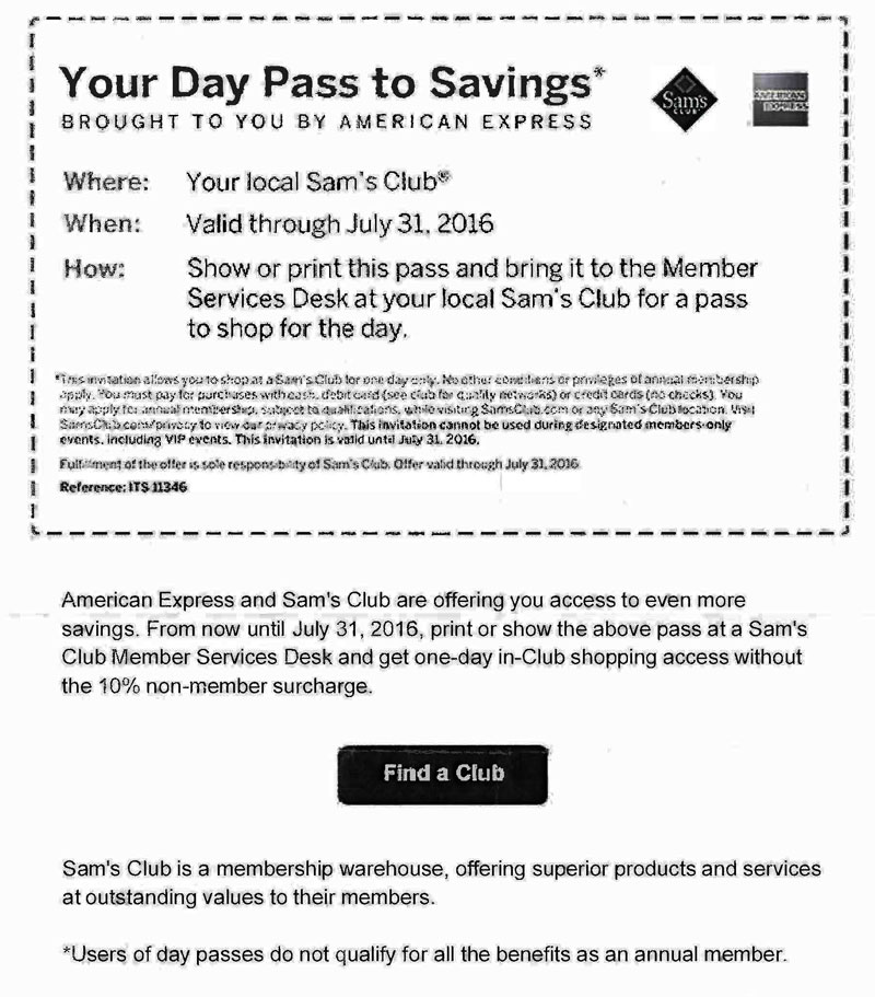 Sam's Club American Express Offer